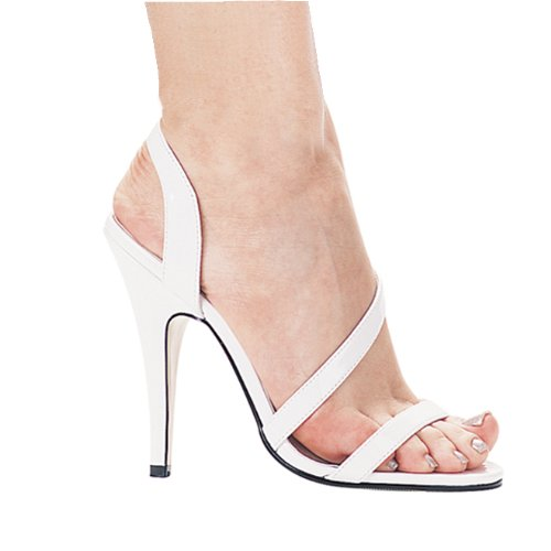 Scarpe Ellie Donna Sandalo Con Cinturino Al Tacco 5 Pollici Bianco