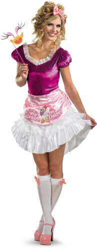 Disguise Unisex Adult Sassy Daisy Duck, White/Pink/Fuchsia, Medium (8-10) Costume