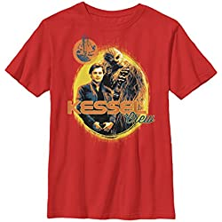 Solo: A Star Wars Story Boys' Kessel Crew Circle Red T-Shirt