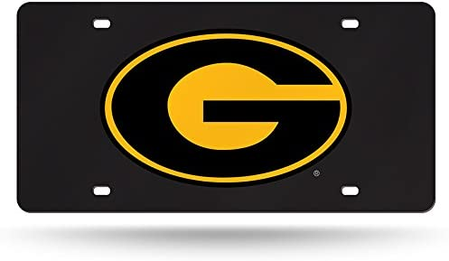 Grambling State Tigers NCAA Rico Industries  Laser Inlaid Metal License Plate Tag