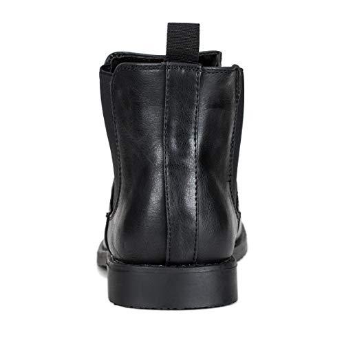 Jivana Men's Chelsea Ankle Dress Boots Oxford