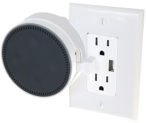 The Spot Usb Outlet Cover Plate By Dot Genie  The Simplest Custom Built In Holder Mount For Voice Assistants   Great For Home And Business   Designed In The Usa  White  1 Pack