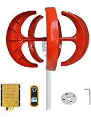 PIKASOLA Wind Turbine 300W max 320W 12V 5 Blade Wind Turbine Generator Vertical 3 Phase AC Permanent Magnet Generator Wind Turbine Kit with Controller for Solar Wind Complementary System