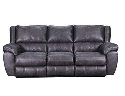 Simmons Upholstery 50433BR-53 Shiloh Granite Shiloh Double Motion Sofa