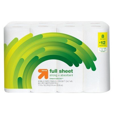 up&Up153; 8pk 60ct Giant Full Paper Towel (Compare to Bounty174;)