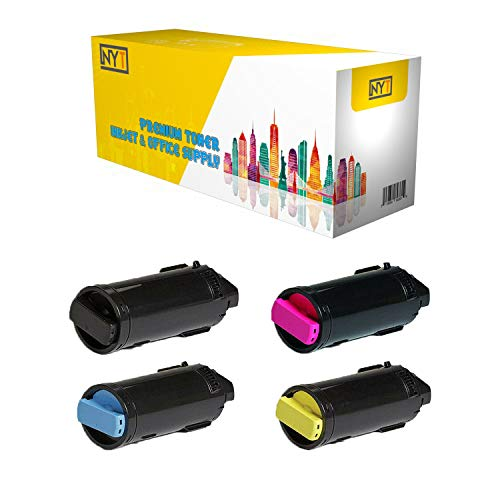 (NYT Compatible 4 Pack 106R03855 106R03856 106R03857 106R03858 METERED Toner Cartridge for Xerox VersaLink C500 C505 - Black Cyan Magenta Yellow)