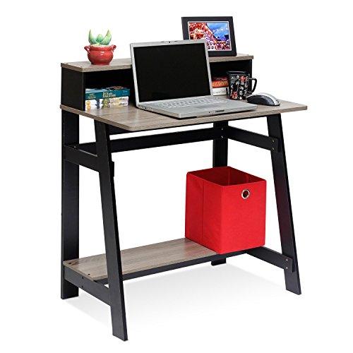 Annie Computer Desk with Built-in Hutch (Grey)