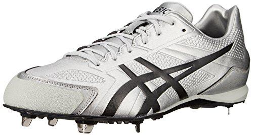 ASICS Männer Base Burner Baseballschuh Silber schwarz