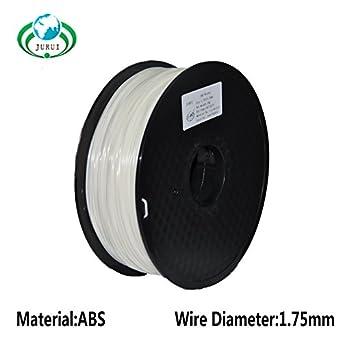 jurui 3d impresión filamento abs-1kg 1.75-nat ABS 3d filamento impresora, Dimensional