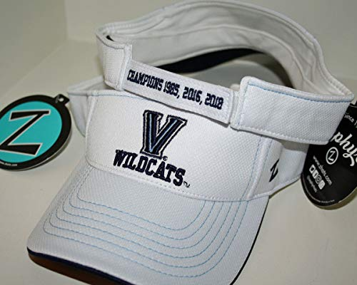 ZHATS Villanova University Wildcats VU White Jersey Mesh 2018, 2016, 1985 NCAA Basketball Championship Adult Mens/Womens/Youth Baseball Hat/Cap/Visor