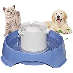 JUSTSTART 2018 Newest Pet Water Fountain, Multi-Functional Smart Circulating Water Dispenser, 5 Drinking Ways Automatic Feeder Replacement Filters, Super Silent DC 5V Pet Water Bowl for Cats and Dogs