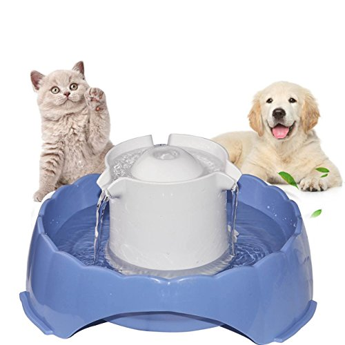 Pet Water Fountain [Newest 2018], Multi-Functional Smart Circulating Water Dispenser, 5 Drinking Ways Automatic Feeder 5PCS Replacement Filters, Super Silent DC 5V Pet Water Bowl for Cats and Dogs from JUSTSTART