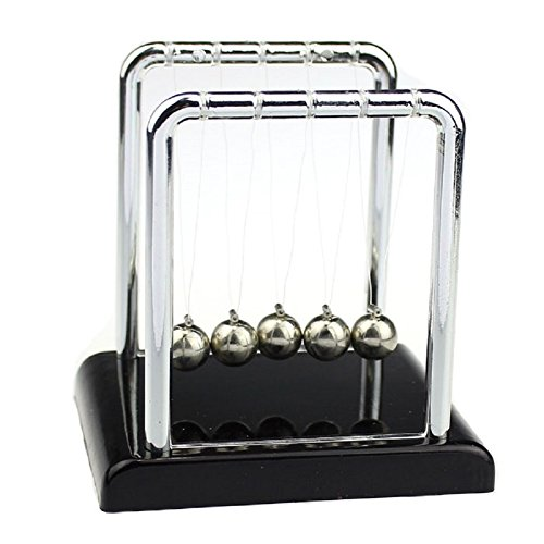 (FEITONG Physics Science Accessory Desk Toy Newton's Cradle Steel Balance Balls)