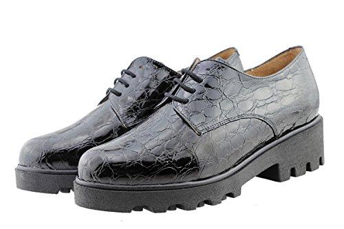 Black cuir confortables à 175551 femme lacets Chaussure en amples PieSanto confort Negro UqHcPwR