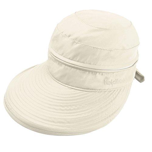 Golf Lightweight Cap (Casual UV Protection Cap Sun Visor Lightweight 2 in1 Women Wide Brim Golf Hat (2 in 1 (Beige)))