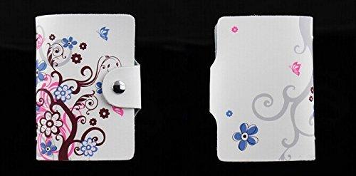 MYLB LEDER KREDITKARTENETUI KARTENETUI VISITENKARTENETUI mit Platz für 26 Kreditkarten bei Doppelbelegung mit Karten (QGY-BK) DLH 6kpzSyBI