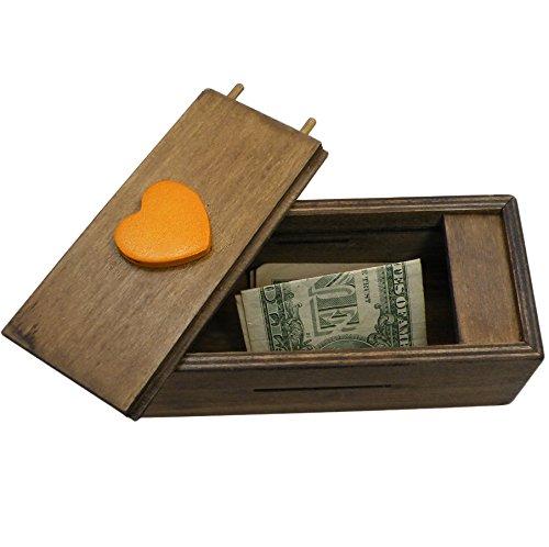 Enigma Secret Puzzle Box 2 Money Or Gift Card Trick Box Piggy Bank