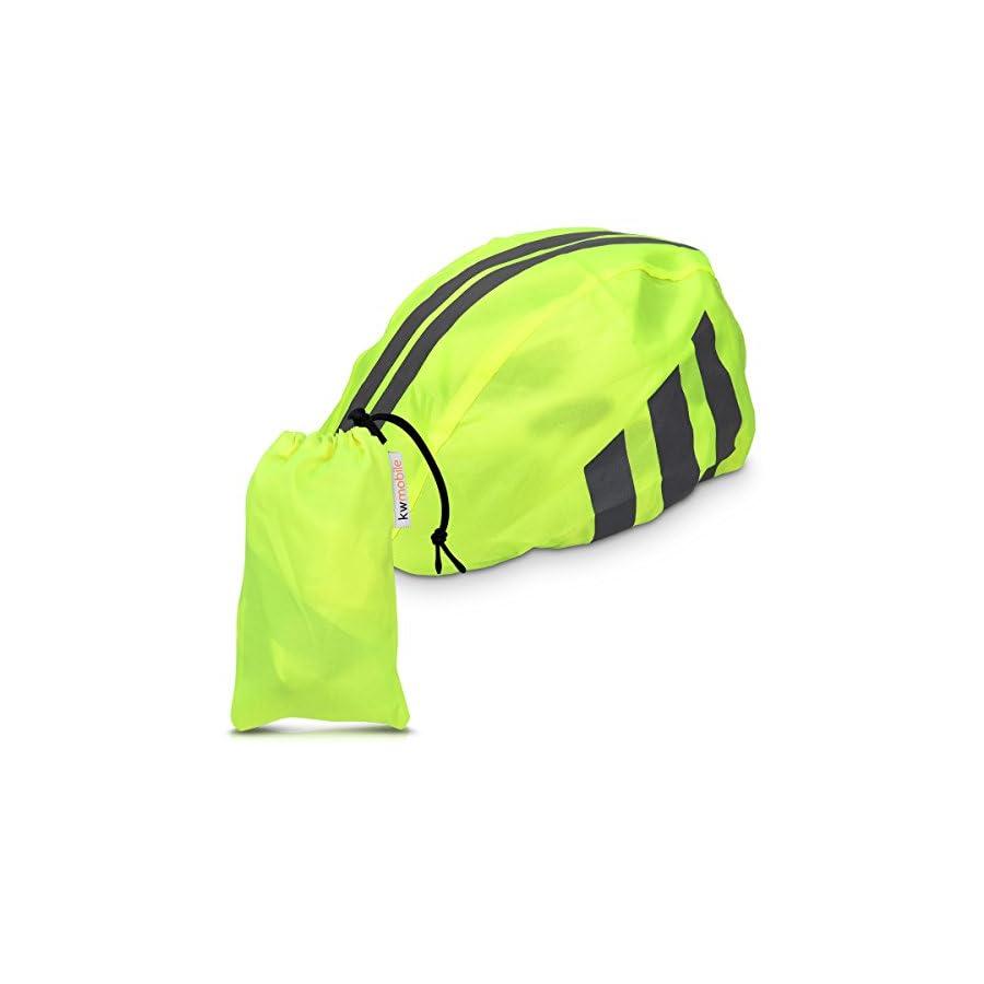 kwmobile Rain Protector Helmet Cover Waterproof Helmet Protection for Bike Helmet Unisex High Visibility Rain Cover for Cycling Riding Biking