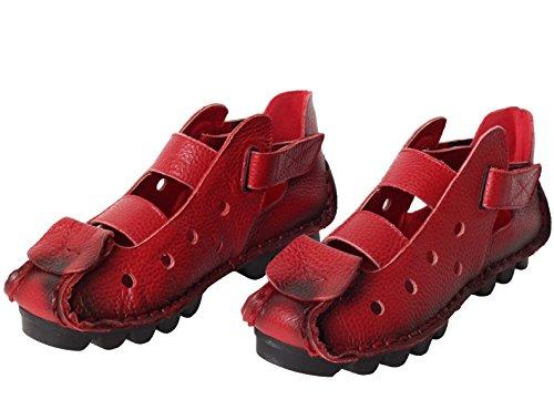 Tacco Donna Nuove Vogstyle Stile 2 Scarpe Basso Sandali Casuali rosso qtgTTfZ