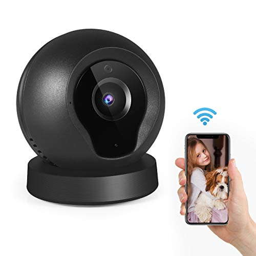 Wireless Security Camera, Wellcows IP Camera 1280x720P HD Wireless WiFi with Motion Detection Remote Monitoring, 2 Way Audio for Indoor Baby/Office/Home Surveillance …