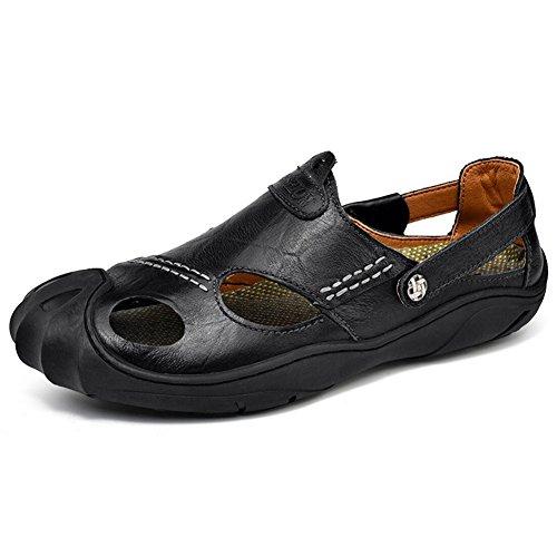 Transpirable Pedal Zapatos Zapatos Walk Y De Brown Aire Nuevos Ocio Capas De Un 43 Dos QSYUAN Sandalias Antideslizante Hombres amp; Al Libre Perezosos amp; Planos Zurriago Wild qP076H