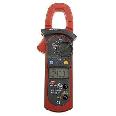 Uni-T UT204 Auto-Ranging AC DC Ture RMS Auto/Manual Range Digital Handheld Clamp Meter Multimeter AC DC Test Tool.