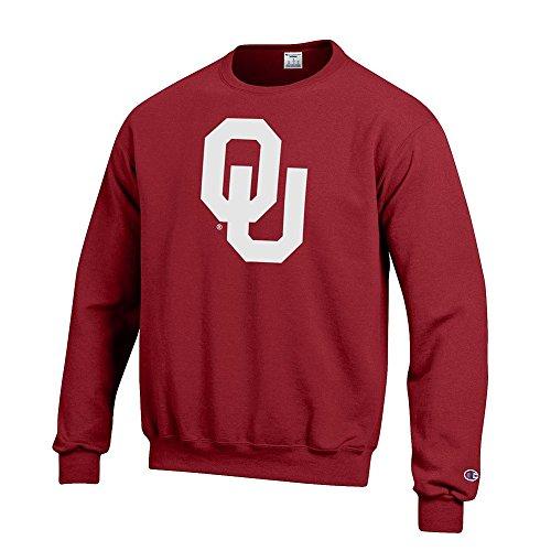Elite Fan Shop Oklahoma Sooners Crewneck Sweatshirt Icon Crimson - (Icon Crew Sweatshirt)