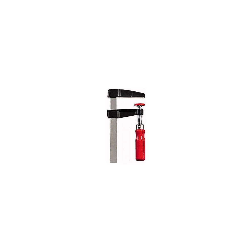 Bessey LM20/10 Die-Cast Zinc Screw Clamp Lm 7.87In/3.94In, Red/Silver/BLACK
