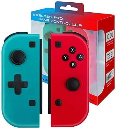 JFUNE Controlador Mando Inalámbrico para Nintendo Switch, Bluetooth Joystick Gamepad De Reemplazo Izquierdo Y Derecho para Switch Joy con (no Original): Amazon.es: Videojuegos