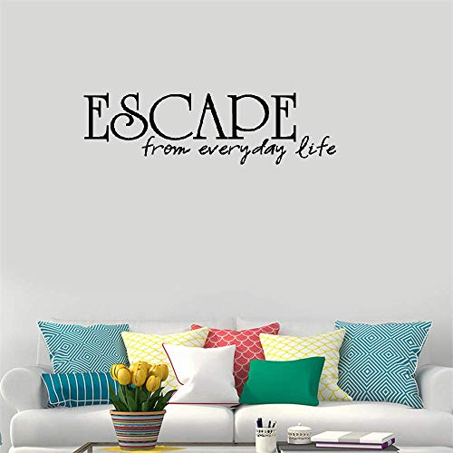 Querxo Room Decor Stickers Wall Words Sayings Removable Lettering Escape from Everyday Life for Bedroom Living Room