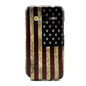 Galaxy Core Prime Case,Gift_Source Slim Fit [Drop Protection] [Shock Absorbent] Flexible Soft TPU Case Slim Case for Samsung Galaxy Core Prime G360 / Prevail LTE Case Vintage American Flag