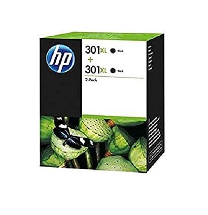 HP D8J45AE 301XL Cartucho de Tinta Original de alto rendimiento, 2 unidades, negro