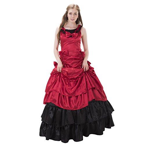 Edwardian Era Costumes For Sale (1791's lady Sleeveless Long Lolita BallGown Gothic Dresss NQLLT0001-2-XL)