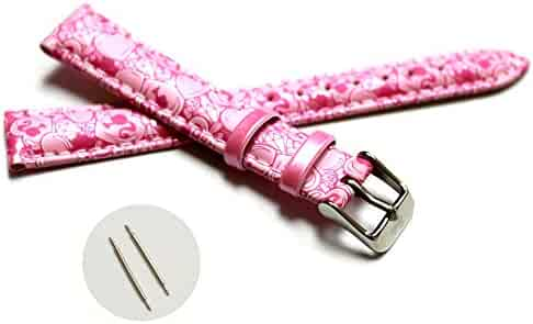 14mm Kid's Padded Straps Band Pink Print Magenta Cartoons Pattern