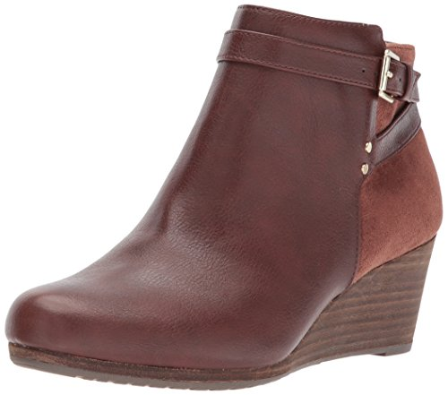Dr. Scholl's Shoes Women's Double Ankle Boot, Copper Brown, 10 M US