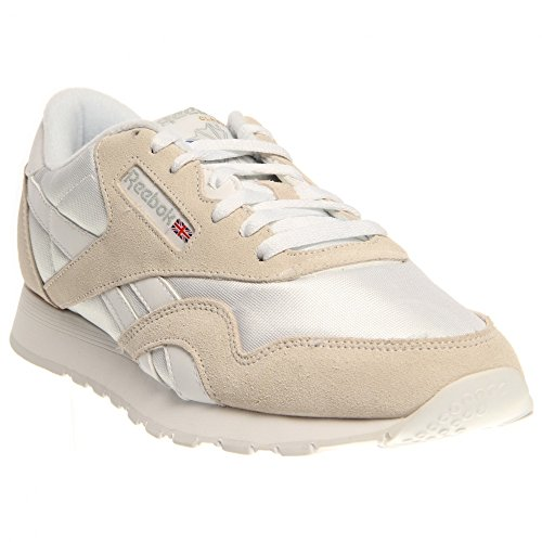 Homme Nylon Classic Sneakers Reebok Basses beige Blanc SFIT8Zx