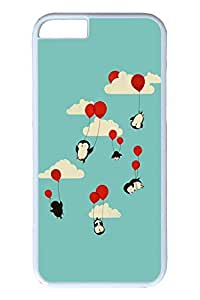 Brian114 6 plus Case, iPhone 6 plus Case - Stylish Designs with Scratch Protection for iPhone 6 Plus Penguins With Ballons Protective White Hard Case for iPhone 6 Plus 5.5 inches by Maris's Diary