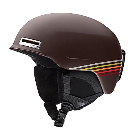 Smith Optics Maze Adult Ski Snowmobile Helmet - Matte Morel Sunset / Medium - Smith Maze Audio