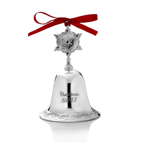 Wallace Grande Baroque Silver Plated 2011 Bell Ornament, 17th (Baroque Silver Plated)