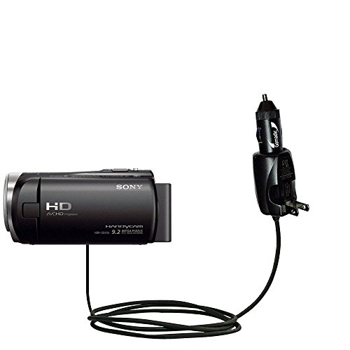 Unique Gomadic Car and Wall AC/DC Charger designed for the Sony HDR-CX455 / CX450 / CX485 – Two Critical Functions, One Great Charger (includes Gomadic TipExchange) by Gomadic