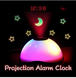 Magic Color Changing LED Digital Projection Alarm Clock Starry Night Effect