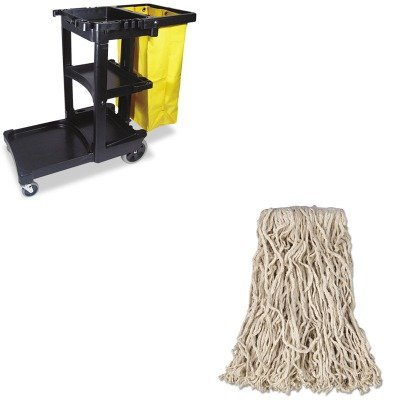 "Gr Q408GRE NEW Rubbermaid 12-Pc 18/"" Microfiber Dust Mop w//Fringe Cut-End"