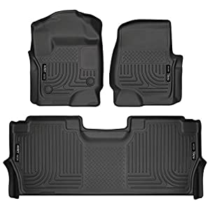 Husky Liners – 94061 Fits 2017-20 Ford F-250/F-350 Crew Cab – with factory storage box Weatherbeater Front & 2nd Seat…