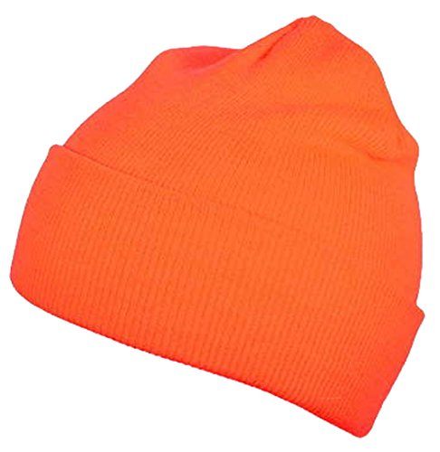 Hi-Vis High Visibility Safety Caps Hats Bandanas Doo Rags Beanies Hunting (Safety Orange Beanie Skull Cap) (Bandana Safety)