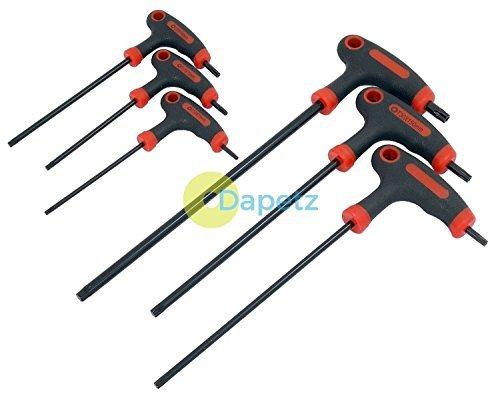 Dapetz T Handle Torx Star Key Screwdriver Allen Keys T10 T15 T20 T25 T30 T40