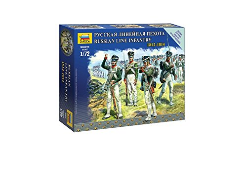 Line Russian (Zvezda Models 1/72 Russian Line Infantry Napoleonic Wars Model Kit)