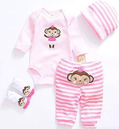 süße Druck Kleidung Anzug rosa für 22-23inch Reborn Puppe Outfit Zubehör