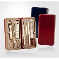 World No. 1. Three Seven (777) Travel Manicure Grooming Kit Nail Clipper Set (7 PCs, TS-4115G), MADE IN KOREA, SINCE 1975.