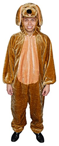 Dress Up America Adults Sensational Plush Brown Puppy Costume for $<!--$54.54-->
