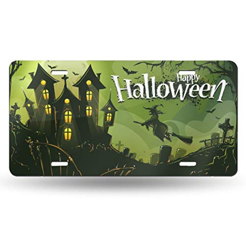 Happy Halloween Theme Design Novelty Design Metal License